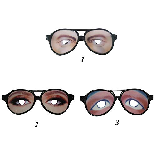 Wingbind Funny Glasses Halloween Customes Props Photo Booth Props for Women Men Cry Glasses-3 Pack/Set -