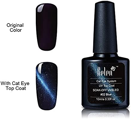 Belen 3d Cat Eye Gel de uñas Top Coat Metal camaleón colores ...