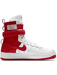 fee7c86edda2 Men s SF AIR Force 1 Shoe White University RED (8.5 D(M)