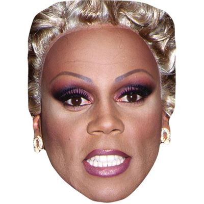 RuPaul (Drag) Celebrity Mask, Card Face and Fancy Dress Mask (Celebrity Face Masks)