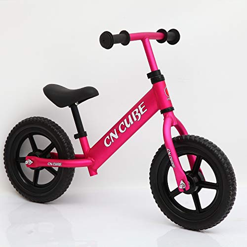 1 Pack, Two Wheel Children Balance Bike 2-6years Baby Walker Portable Bike Kids Bicycle No Foot Pedal New Riding Toys,Rose red ZLJTYN