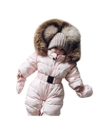 XWDA Baby Girls Boys Down Coat Snowsuit Hoodie Romper Jumpsuit Warm Thick Outfit