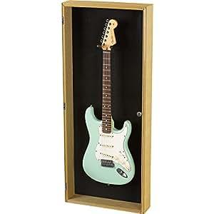 musician 39 s gear electric guitar display case tweed musical instruments. Black Bedroom Furniture Sets. Home Design Ideas