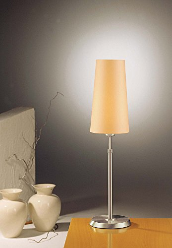 Holtkoetter 6263 SN KPN Incandescent Shaded Table Lamp, Satin Nickel with Kupfer Narrow Shade ()