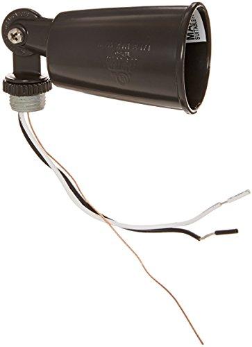 150 Watts Incandescent Par Holder - RAB Lighting R90A Par Holder Floodlight, Aluminum, 150 Watts Power, Bronze Color