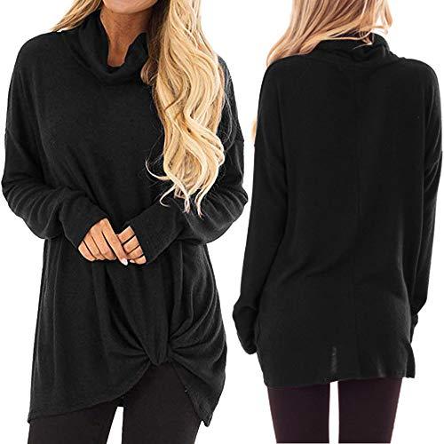 DICPOLIA Women Sweatshirt Top Donna Casual Camicetta Solido