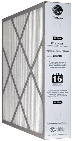 Lennox Corporation X8790 MERV 16 PLEATED FILTER 20x21x5