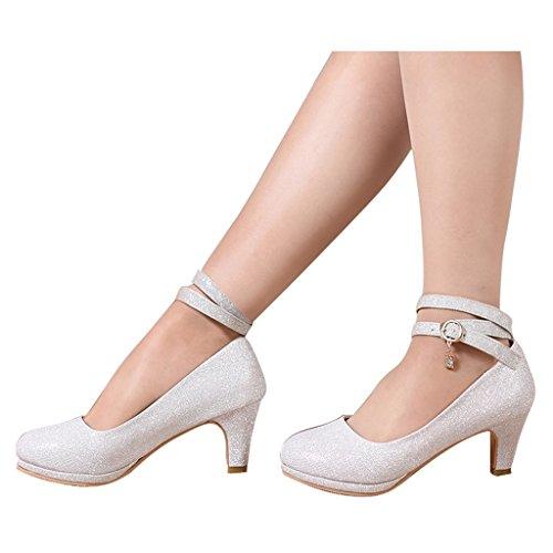 Da Bridal Alti 6cm Tacchi D'onore Scarpe Damigella D'argento Silver Beautiful colore Silver Abiti Dimensioni Sposa Shoes Nozze Di con Donna 36 t6v0Od0