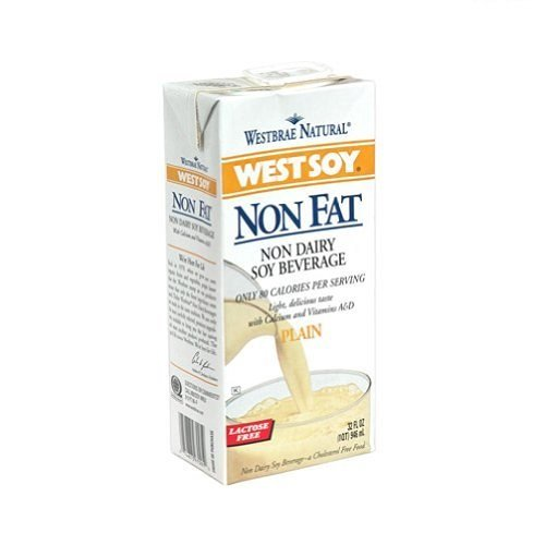 Westbrae Natural Westsoy Non Fat Soy Beverage, 32 Ounce