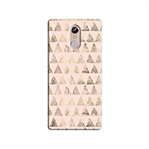 Cover It Up - Brown Light Pink Triangle Tile Gionee S6s Hard Case