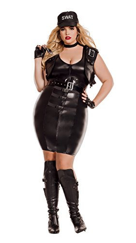 Starline Women's Plus Size Sultry Swat, As Shown, 3X ()