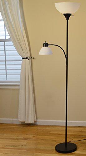 Light Accents 150 Watt Floor Lamp with Side Reading Light - Floor Lamps - Dorm Room Floor Lamp - Floor Lamps for Bedrooms - Kids Floor Lamp - College Floor Lamp (Black (Case of 4)) by Lightaccents (Image #1)