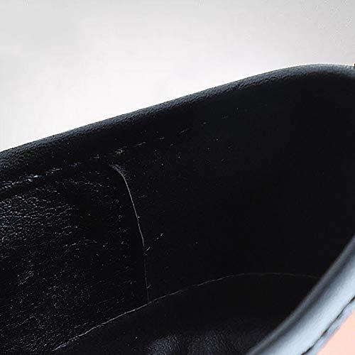 Cuciture Scarpe Comodi A FHTD Walking On Casual Uomo Da Lavoro Barca Lavoro Driving Da Mocassini Scarpe Mocassini Basse Black Formale Slip Mano Da Antiscivolo RRwqA6ZOrx