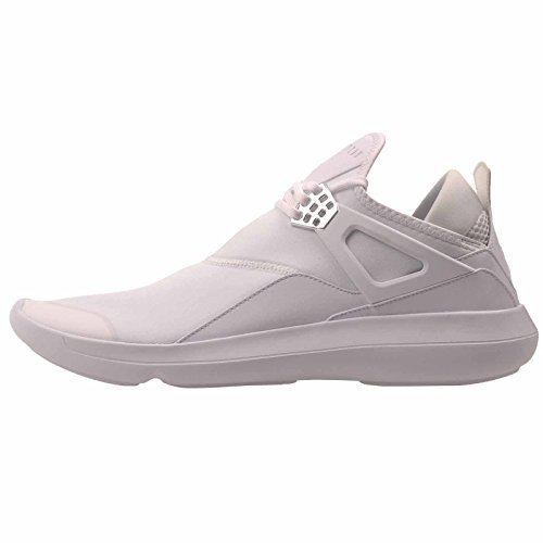 Jordan Fly 89 Mens White Canvas Lace up Sneakers Shoes (Jordan Leather Sneakers)