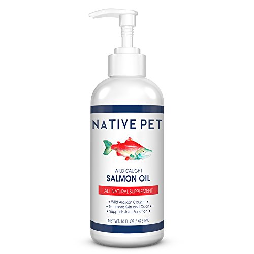Native Pet Wild Alaskan Salmon Oil for Dogs and Cats 100% Pure Fish Oil (16 oz) – All-Natural Supplement Rich in Omega 3 for Joints, Skin, and Coat