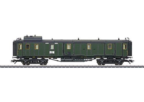 (Type PPu Baggage Car - 3-Rail Ready to Run -- Royal Bavarian State Railroad K.Bay.Sts.B. (Era I 1908, green, black))