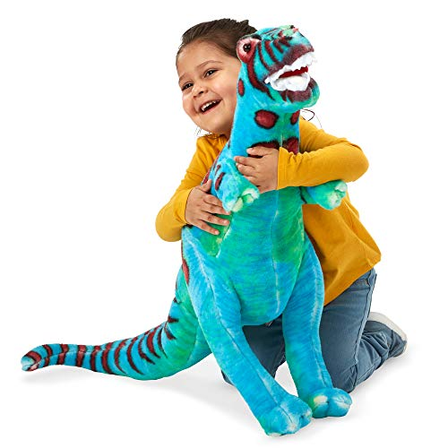 "Melissa & Doug T-Rex Giant Stuffed Animal (Wildlife, Bold Colors, Soft Polyester Fabric, Stands on Two Feet, 26"" H x 30"" W x 9"" L, Great Gift for Girls and Boys - Best for 3, 4, 5 Year Olds and Up) from Melissa & Doug"