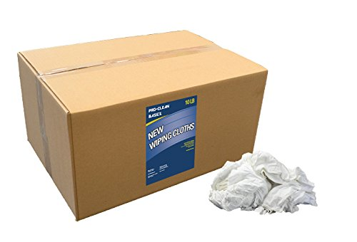 Wiping Rags - Pro-Clean Basics New Wiping Cloth Rags: 10 lb. Box
