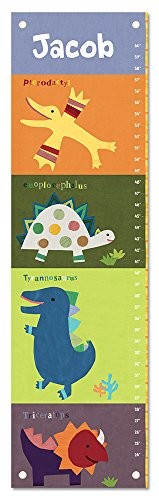 Personalized Custom Name Keepsake Growth Chart Height Ruler for Boys Girls Kids Room Wall Hanging Canvas Children's Baby Nursery Décor, Dinosaur | Dinosaur (Chart Personalized Growth Dinosaur)