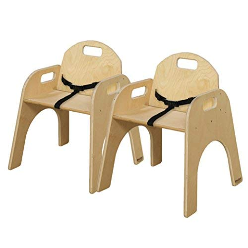 Wood Designs 80132BT Woodie with Belt Strap, 13'' Seat Height, Natural (Pack of 2) by Wood Designs