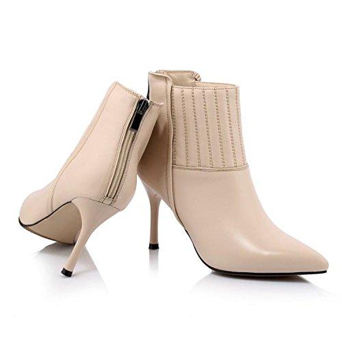 caviglia caviglia stivali tacco tendine Women alto 35 APRICOT APRICOT APRICOT della tendine NSXZ modo 's stivali di cuoio di 37 SqWTBYw