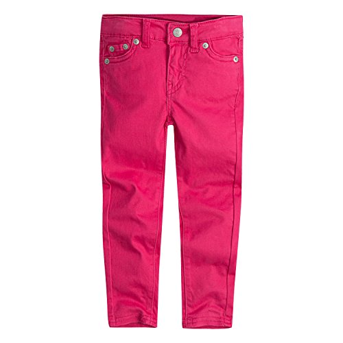 Brushed Denim Jeans (Levi's Big Girls' 710 Super Skinny Fit Soft Brushed Jeans, Raspberry Sorbet, 16)