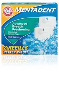 Mentadent Fluoride Toothpaste Advanced Breath Freshening, 2 Refills Each 5.25 Oz - 10.5 Oz Total
