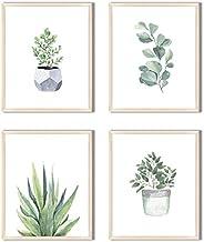 Herzii Prints – Impresión botánica de pared – Cuadros de pared – Decoración de pared minimalista floral – Jueg