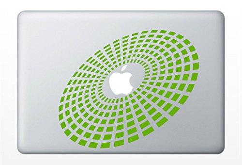 3d Equalizer Burst Laptop Decal | Car Vinyl Sticker (Lime Green)