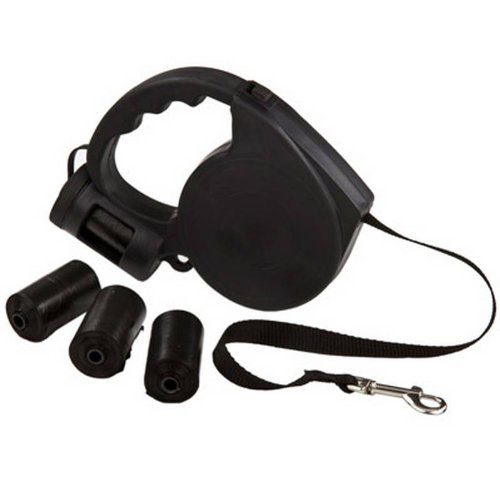 5m Extension Dog Lead Leash and 4x20 Waste Bags