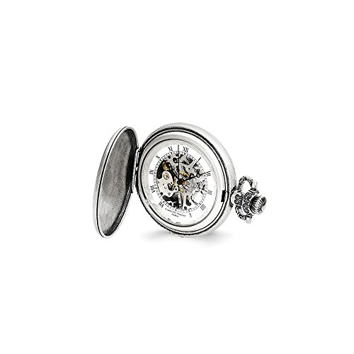 Charles Hubert Antiqued Unicorn Shield Pocket Watch ()