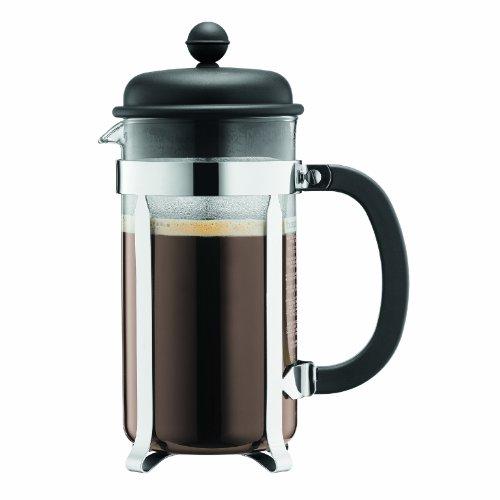 Bodum CAFFETTIERA Kaffeebereiter (French Press System, Permanent Edelstahlfilter, 0,35 liters) schwarz