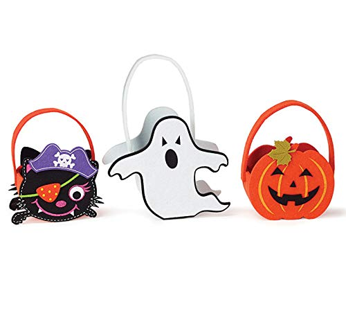 Pirate Cat Around 10 Inches Assorted Jack O Lantern Ghost Felt Gift Bags