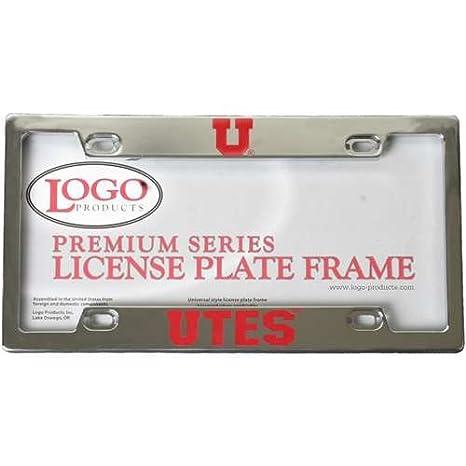 Amazon.com : Utah Utes Die-Cast Chrome License Plate Frame : Sports ...