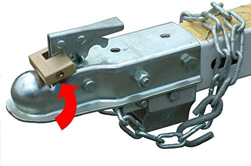 RITE-HITE Trailer Hitch Lock Great for Boat Trailers Protects Your Trailer with Heavy Duty Brass Lock Designed to Prevent Theft
