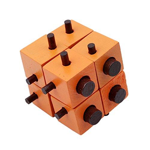 Honel パズルゲーム モンテッソーリ教育 木製 孔明パズル 3D立体パズル 知恵おもちゃ 知的玩具 ジグソーパズル 組み合わせ推理力パズル 幼児/大人知的玩具 5#