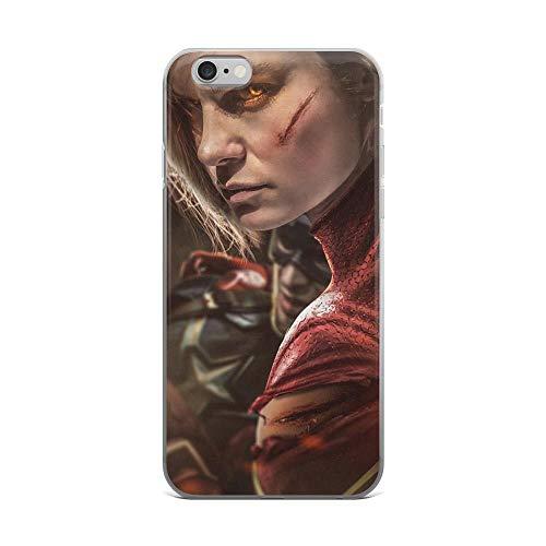 iPhone 6 Plus/6s Plus Pure Anti-Shock Clear Case Captain Carol Denvers Fight Stan Lee Movie Shield Avengerss Comic Superhero