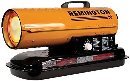REMINGTON REM-80T-KFA-O 80,000 BTU Portable Forced Air Kerosene Heater, Orange Black