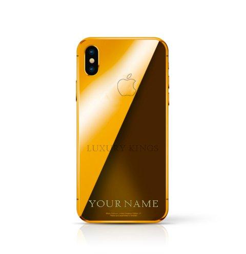 24K Gold Plated iPhone X 256 GB Silver - Unlocked Custom