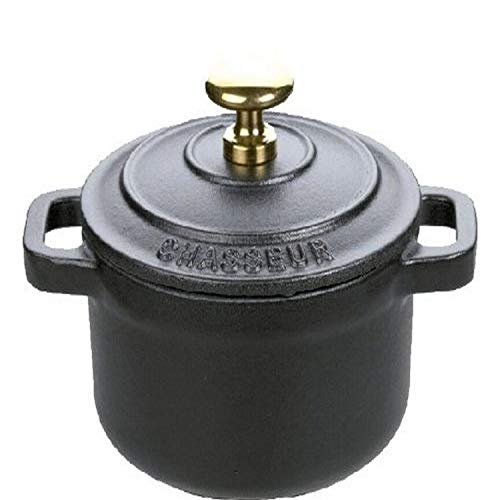 Chasseur Mini Cast Iron Dutch Oven, Black