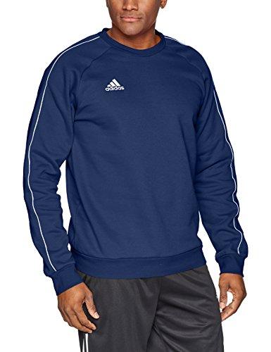 (adidas Men's Core 18 Soccer Sweatshirt, Dark Blue/White, Large)