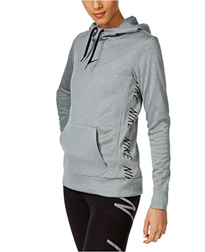 Nike Women's Therma Training Hoodie Carbon Gray Large
