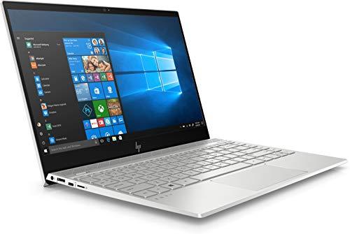 HP Envy 13-ah1004ne Laptop, Intel Core i7-8565U, 13 Inch, 1TB SSD, 16GB RAM, Nvidia Geforce MX150 (2GB Graphics), Win 10, Eng-Ara KB, Silver