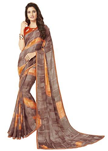 Glory Sarees Women's Printed Criva Crepe Saree Multi Free Size