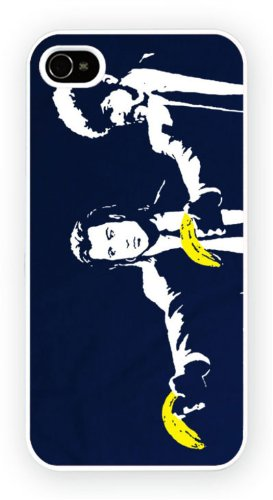 Banksy Pulp Fiction Art Design, iPhone 5 5S, Etui de téléphone mobile - encre brillant impression