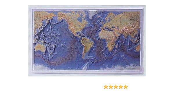 Topographic Map Of Ocean Floor.World Ocean Floor Raised Relief Bruce C Heezen Marie Tharp