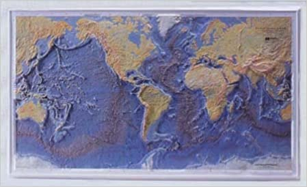 Raised Relief World Map.World Ocean Floor Raised Relief Bruce C Heezen Marie Tharp