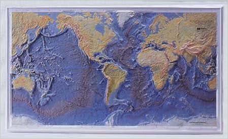 World Ocean Floor Raised Relief Bruce C Heezen Marie Tharp
