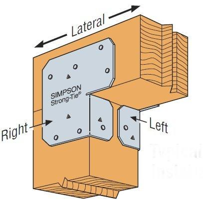 Simpson Strong Tie ACE6 1 1 1 18-Gauge 6-Inch Adjustable End Post Cap