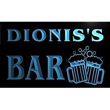 w148503-b DIONIS Name Home Bar Pub Beer Mugs Cheers Neon Light Sign